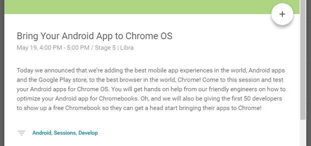 Google I/O 2016 - Chrome OS, Android