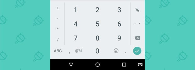Google Keyboard - Number Pad