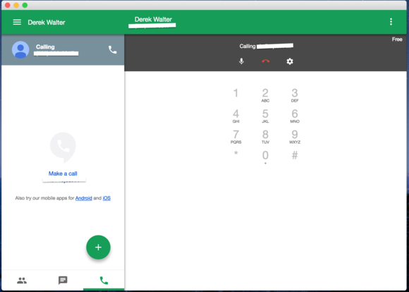 google voice desktop call