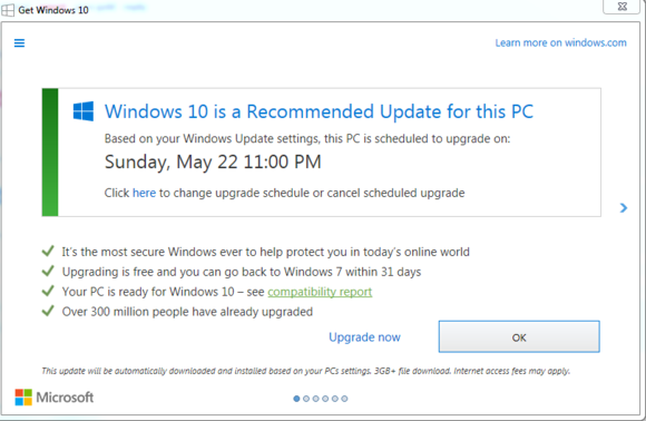 Windows 10 Recommended Update