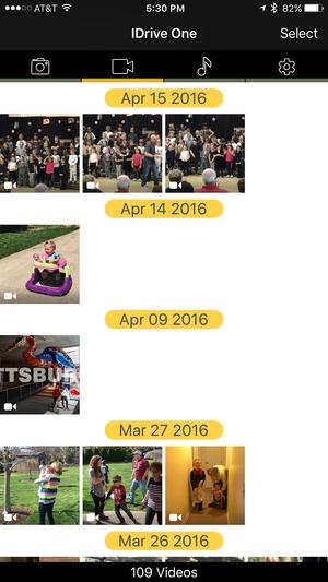 idrive one iphone videos
