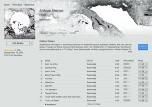 itunes store downloads apple music radiohead