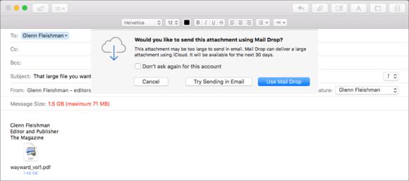 mac911 maildrop attachment