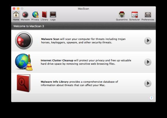 macscan 3 main screen