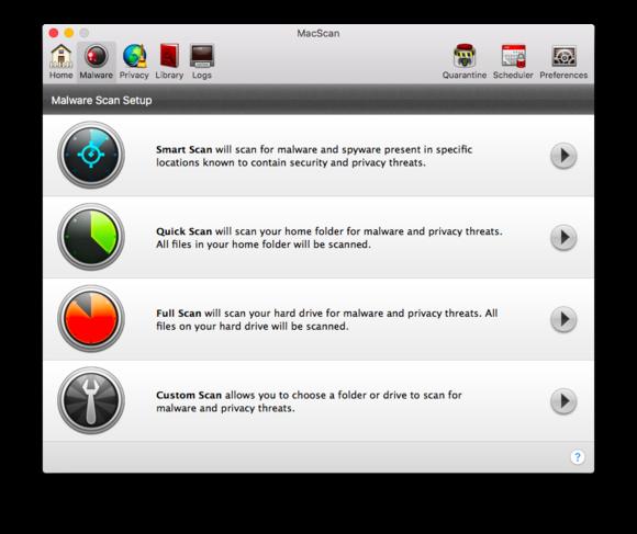 macscan 3 malware options