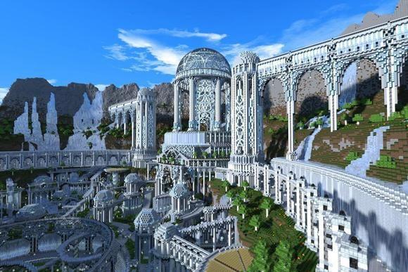 minecraft elven city