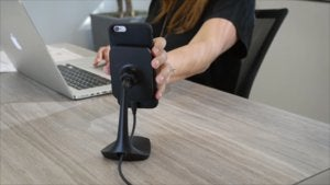 mophie charge force wireless charging desk mount