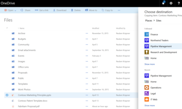 OneDrive Copy to SharePoint
