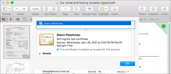 pdfpen8 signature validation