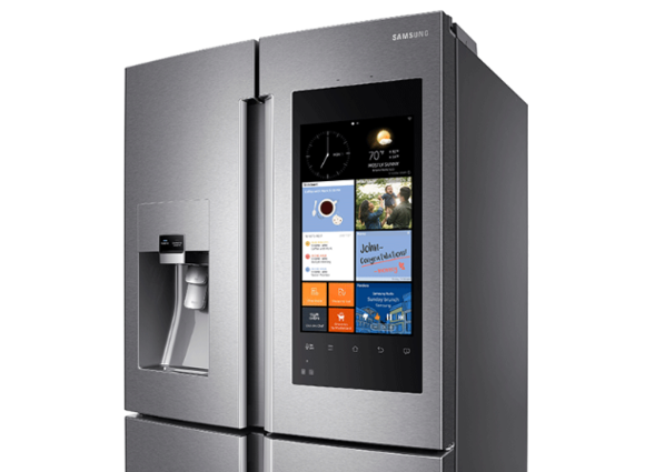 samsung 39 s over the top family hub smart fridge is now on. Black Bedroom Furniture Sets. Home Design Ideas
