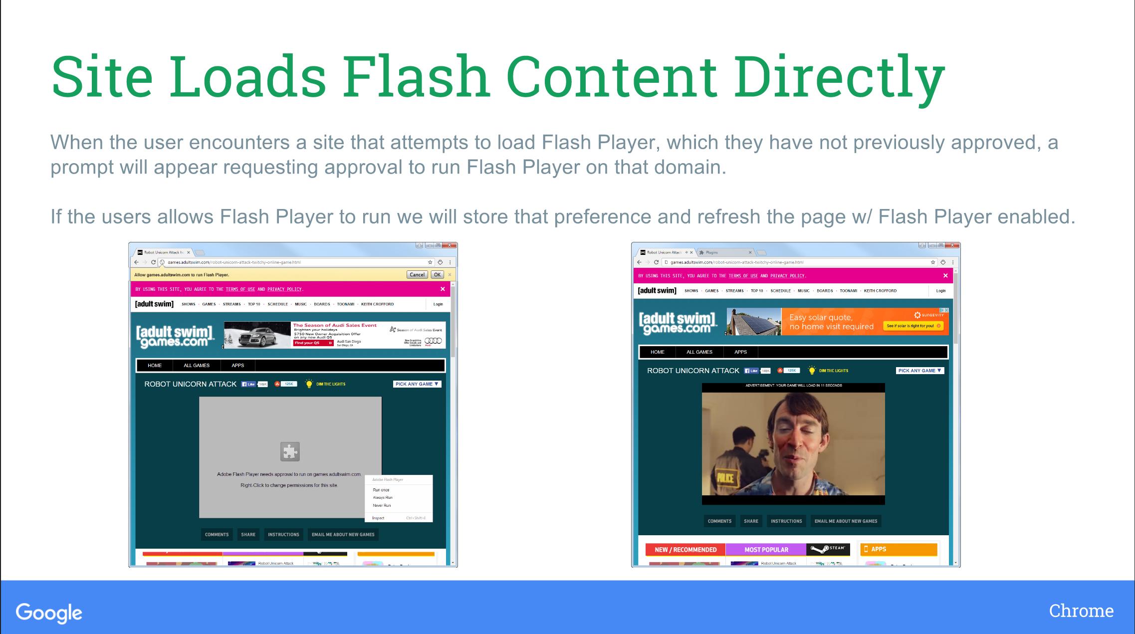 chrome wont stop blocking flash