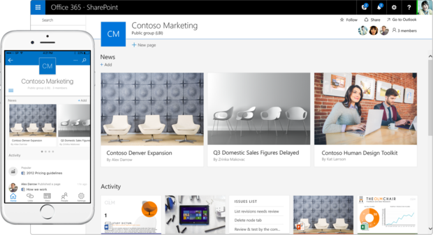 SharePoint mobile and new look