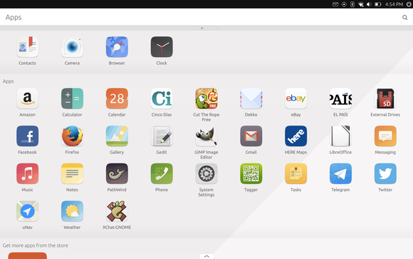 The default apps on the BQ Aquaris M10.