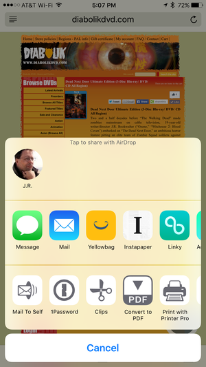 yellowbag iphone share extension