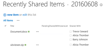 An Overview of Recently Shared Items (RSI) in SharePoint 2016
