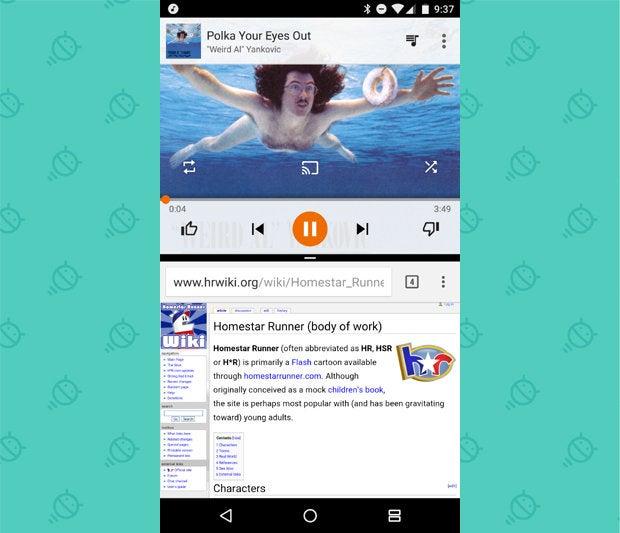 Android N Beta Multi Window