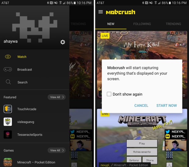 How to live stream Android games to YouTube and Twitch