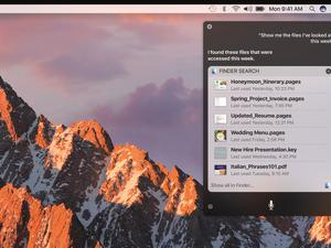 apple siri macos sierra search