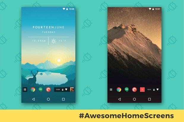 Awesome Android Home Screens: The Chrome Phone