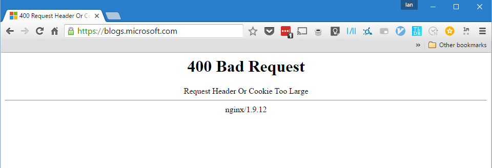 When browser cookies go bad: How to avoid 'bad header