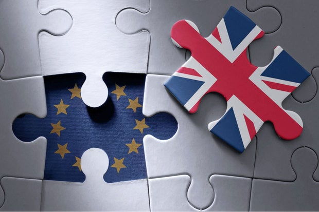 Brexit - Britain, European Union puzzle pieces