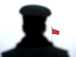 chinese flag soldier