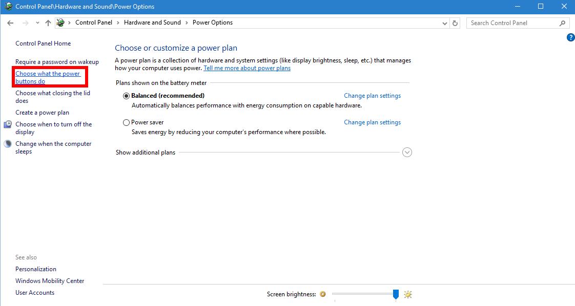 How to add a Hibernate option to the Windows 10 Start menu