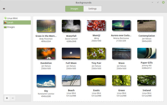 Linux Mint 18 Cinnamon backgrounds