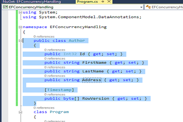 Concurrency Handling in EF