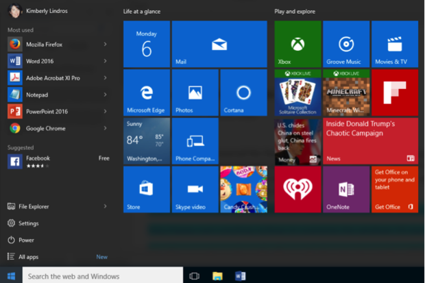 Customize Windows 10 Start menu 1