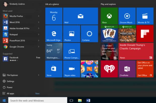 Customize Windows 10 Start menu 1