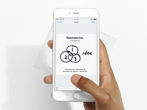 Dropbox iOS document scanner