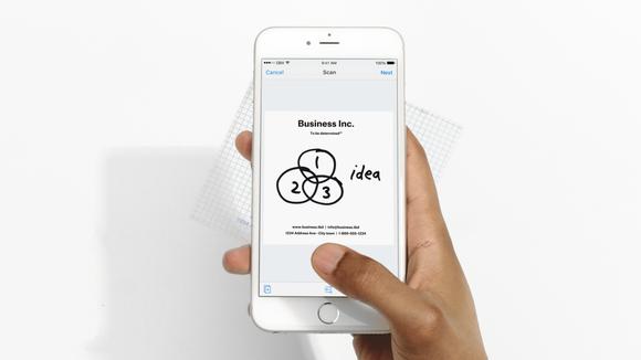 Dropbox iOS document scanner