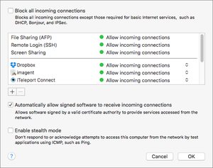 firewall settings os x copy