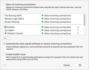 firewall settings os x copy
