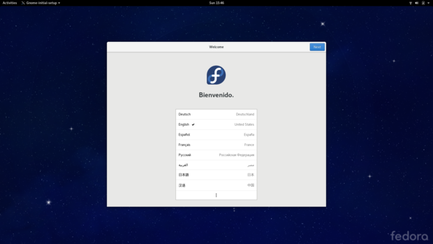 Fedora GNOME Workstation