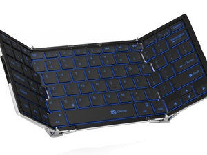 iClever Backlit Foldable keyboard - open view