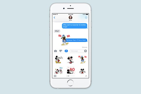 imessage in ios 10 app drawer stickers - Mockups For Android