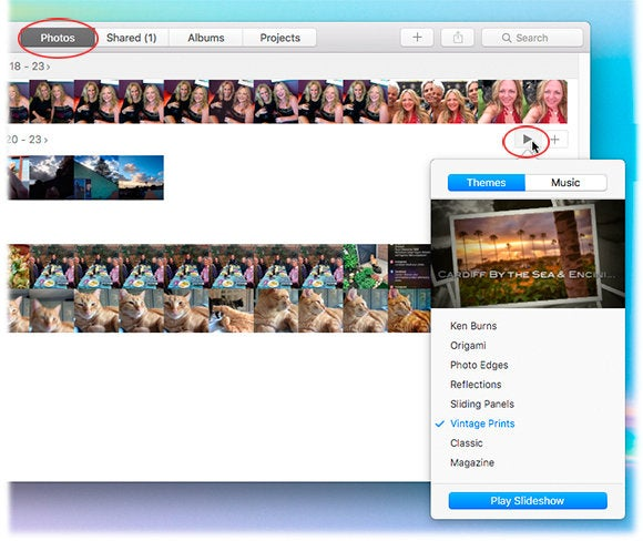 How to create instant slideshows in Photos for Mac and iOS