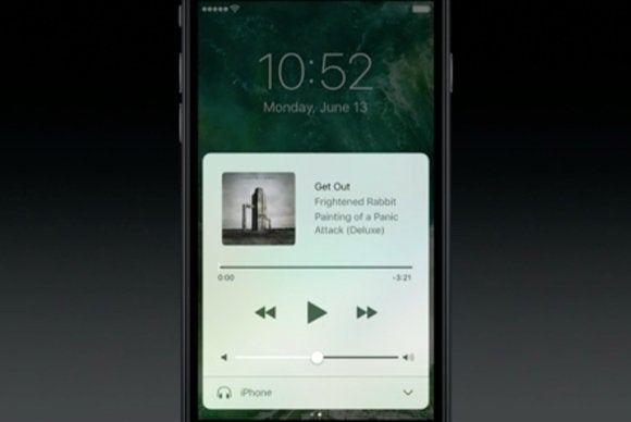 ios 10 control center apple music
