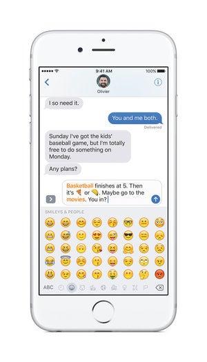 ios 10 emoji tap to replace
