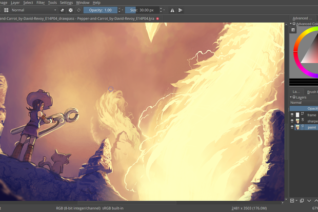 Open Source Painting Application Krita Gets A Version Bump