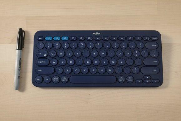 Logitech K380 keyboard scale shot