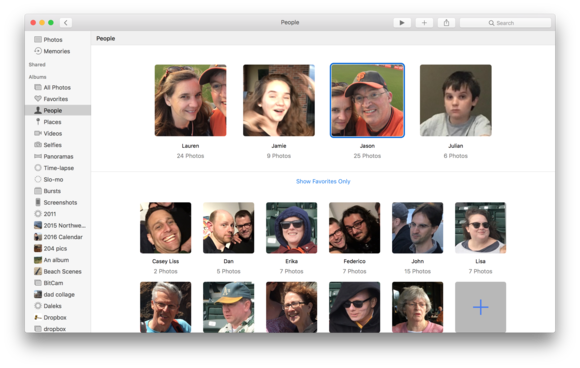 macos sierra faces