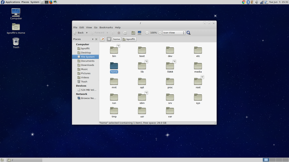 Fedora MATE file manager