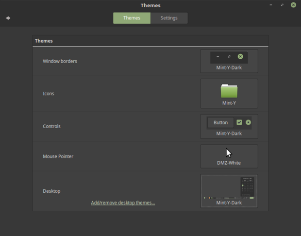Linux Mint 18 Mint-Y dark