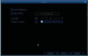 motion detection screen nvr