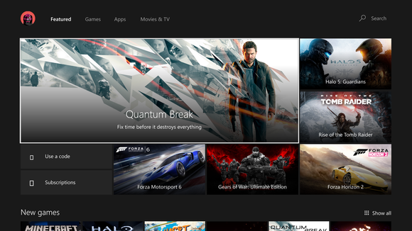 Xbox One stores view