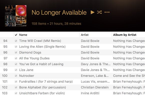 """When """"No Longer Available"""" strikes in iCloud Music Library"""