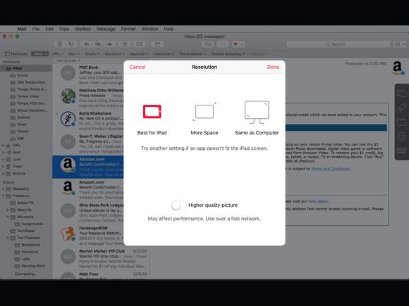 parallels access ipad desktop resolution